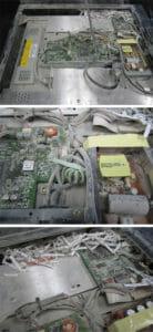 Dommages causés par la poussière à un moniteur industriel non conforme à IP66