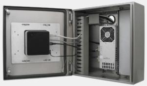 NUC d'Intel monté dans un coffret pour client léger de Hope Industrial