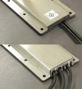 Options de plaques de recouvrement de sortie de câbles