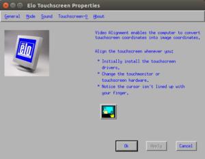 Alignement vidéo de l'écran tactile Elo