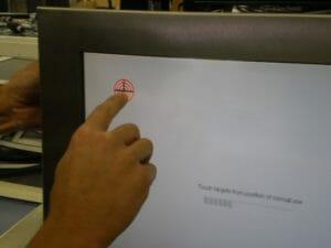 Démonstration de l'alignement de l'écran tactile
