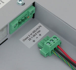 Bornier d'alimentation CC avec connecteur de verouillage