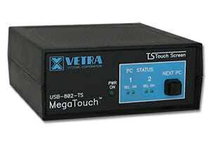 Commutateur KVM à USB de Vetra Systems pour écran tactile