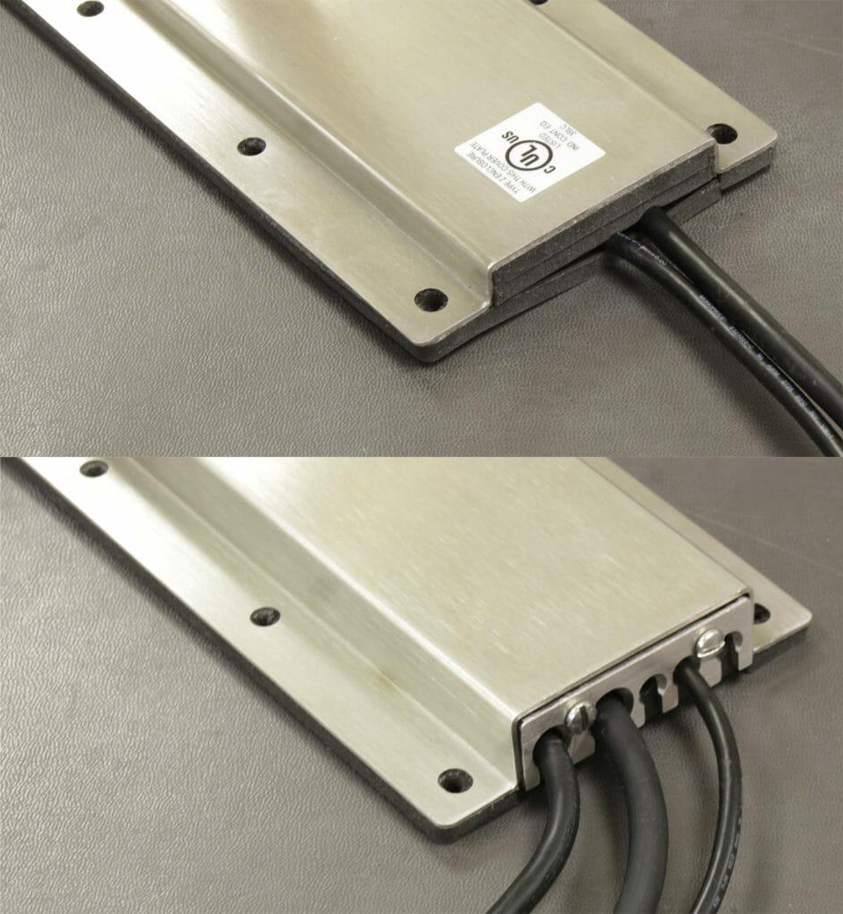 Options de caches de sorties de câbles NEMA 2 (en haut) et NEMA 4/4X (en bas)