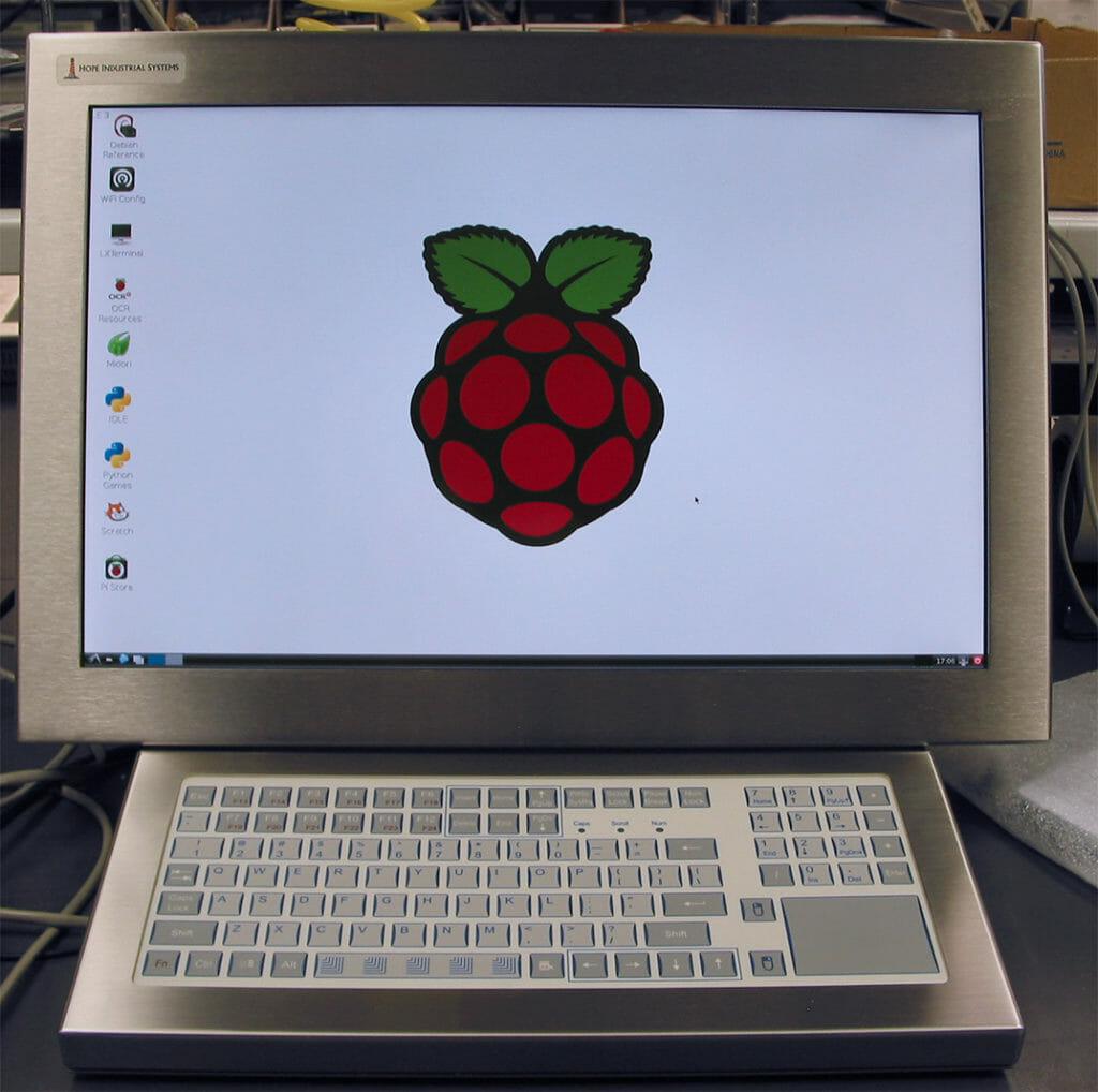 Écran tactile et clavier Hope Industrial UM22 avec Raspberry Pi intégré en interne