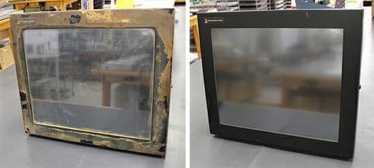 Réparation de moniteurs industriels: avant et après