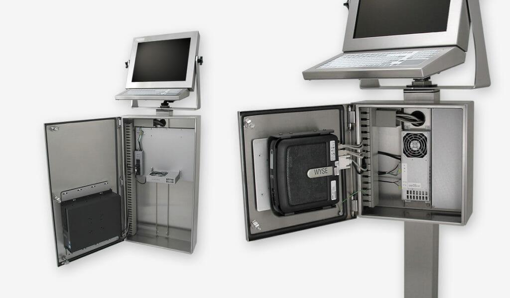 Coffrets pour PC et clients légers à usage industriel