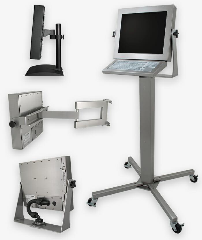 Options de montage à usage industriel pour écrans à montage universel
