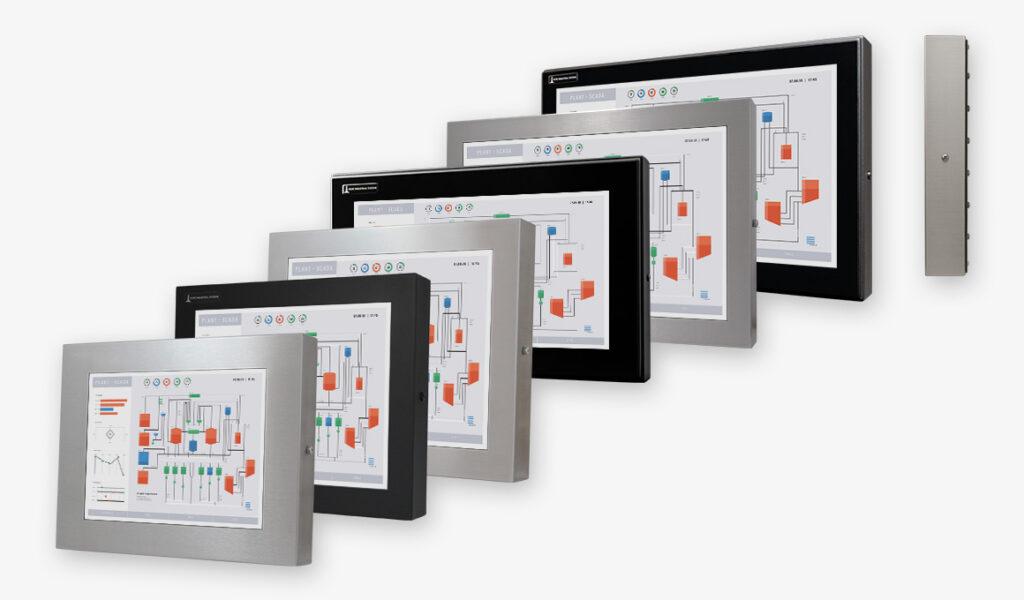 Écrans industriels et écrans tactiles robustes IP65/IP66 à montage encastrable  universel