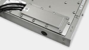 Serre-câbles IP65/IP66 ou IP22 avec option de cache pour sortie de câbles pour les écrans industriels à montage encastrable universel