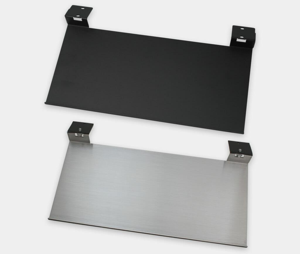 Tablette pour clavier industriel pour écrans à montage encastrable universel