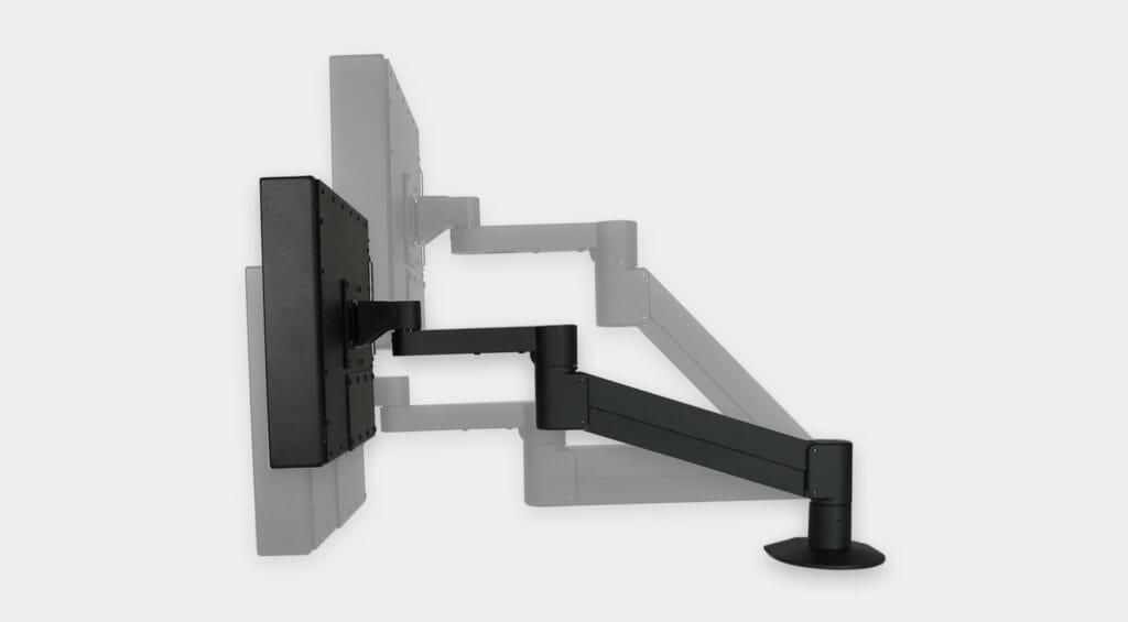 Montage VESA à bras latéral pour moniteurs industriels, plage de réglage vertical