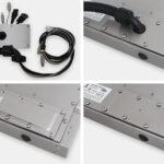 Options caches de sortie de câbles pour écrans à montage encastrable universel à usage industriel et écrans tactiles