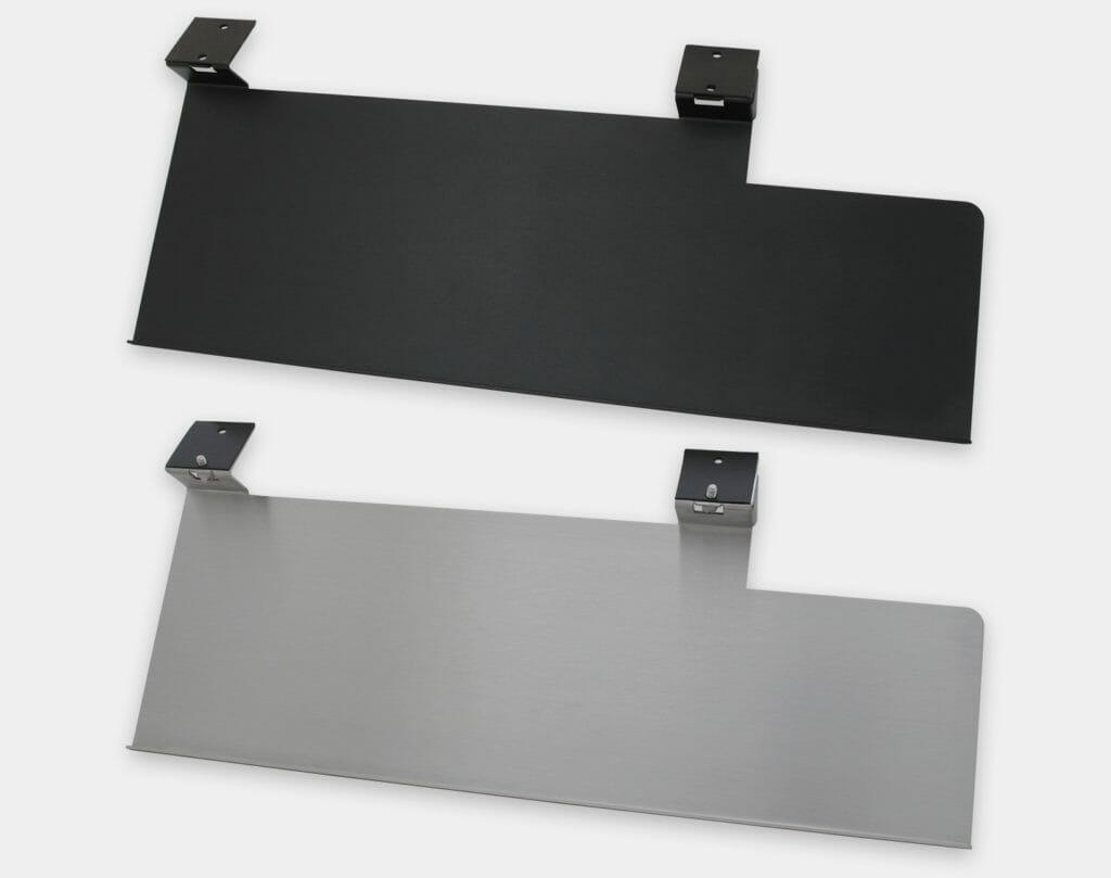 Tablette pour clavier avec extension droite - vue de dessus