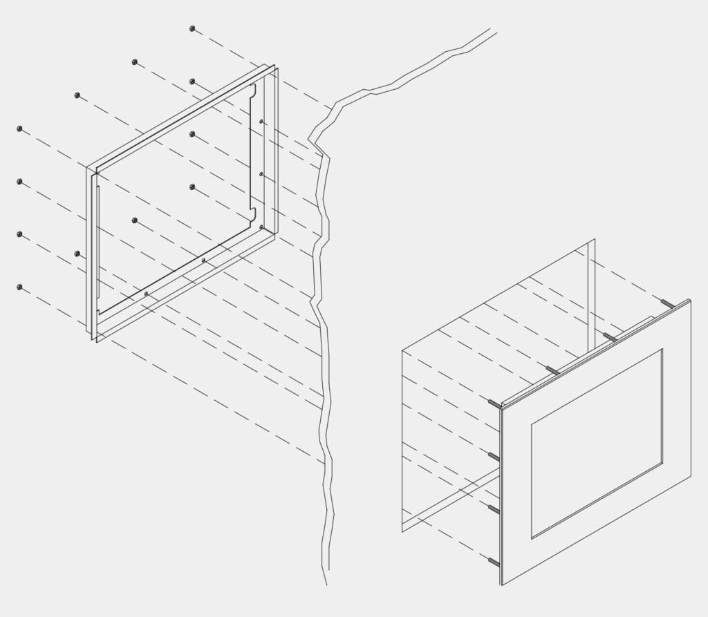 Mounting Diagram for Panel Mount Industrial Monitors and Touch Screens